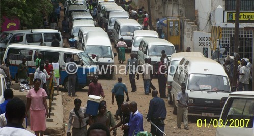 Minibus parked | The Nation Online