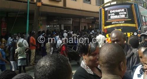 Photo from the hotel where a couple is stuck while having sex on Ronald Ngala street in Nairobi Kenya