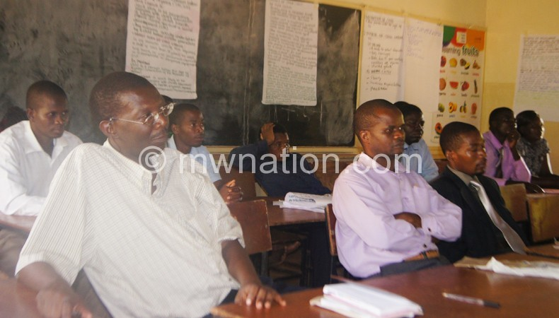 Some of the teachers who participated in the training
