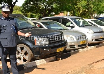 Some of the vehicles confiscated by the police over Cashgate