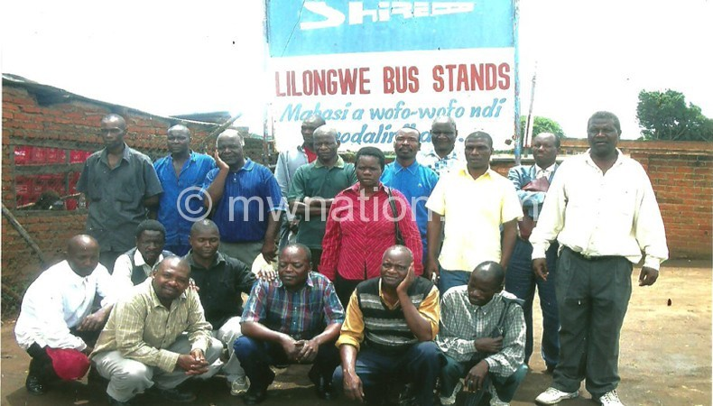 Some of former Shire Bus lines employees  pose for a photo