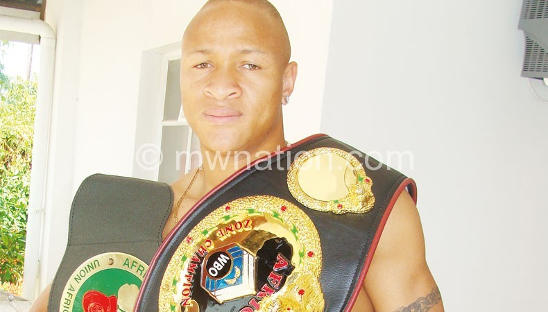 Malawi's celebrated light-heavyweight boxer: Chilemba
