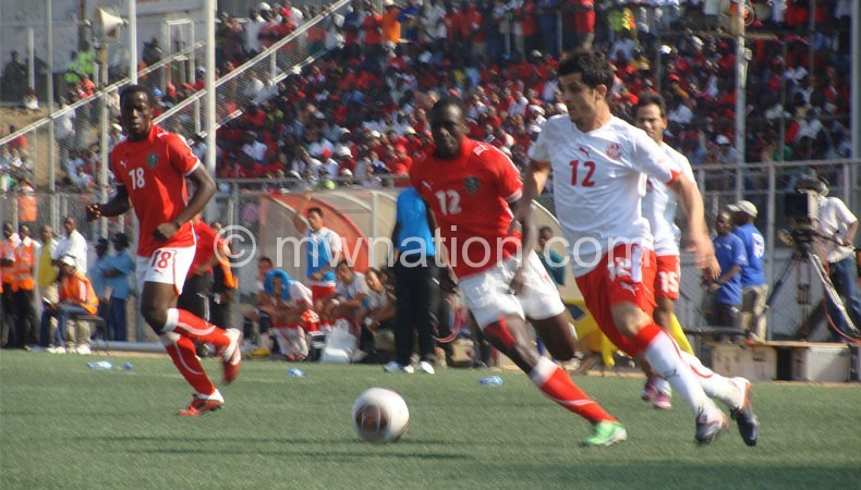 Once upon a time: Teams battling it out at Kamuzu Stadium