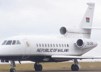 Bingu bought the presidential jet in 2009