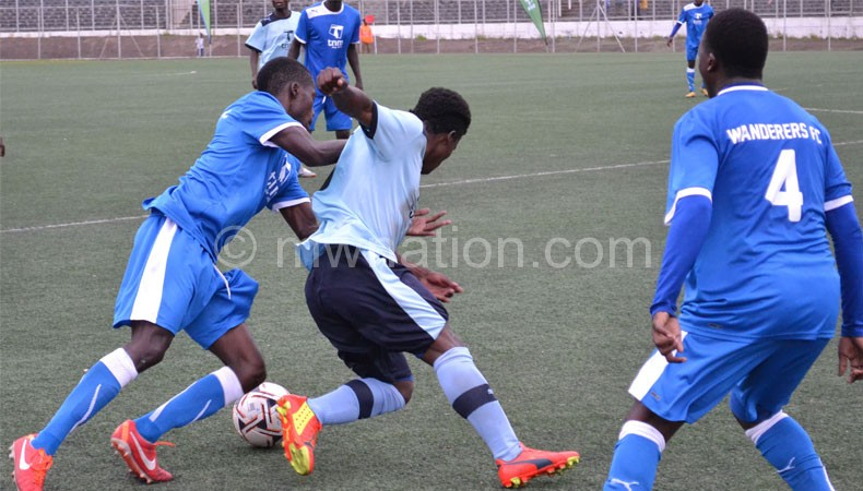 Part of the action in the crucial semi-final between Silver and Mighty Wanderers