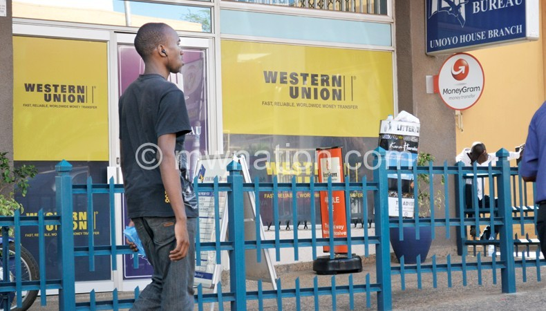 Western Union is one of the transfer operators in Malawi