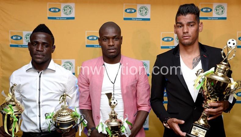 Some of the winners (L-R) Gabadihno, Lamola and Daniels