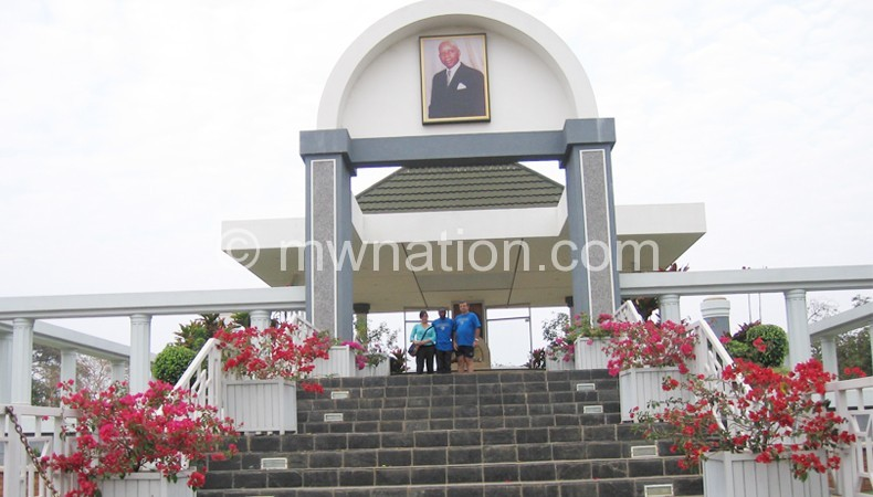 Founding president the late Hastings Kamuzu Banda mausoleum