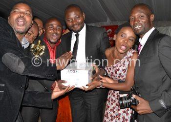 NPL jourmalists celebrate their success at a previousMisa-Malawi Gala Award Ceremony