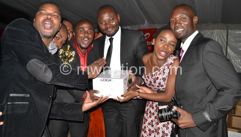 NPL jourmalists celebrate their success at a previousMisa-Malawi Gala Award Ceremony