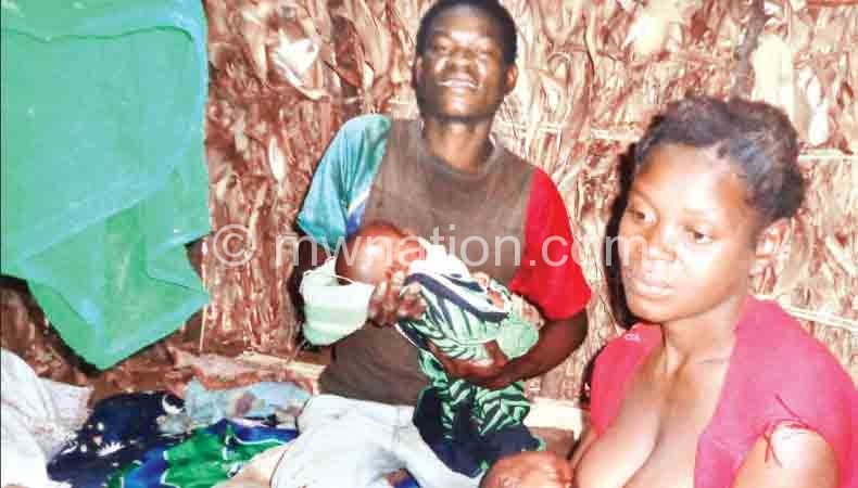 The family's joy has been subdued by poverty