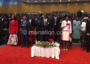 Mutharika led Malawians in prayer