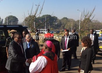 Mutharika arrives for prayers at BICC