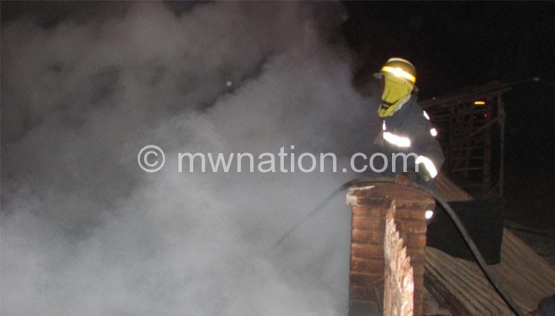 Mzuzu market was razed down by fire two months ago