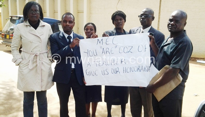 Malawians teachers like these will now have to pay in TTC's