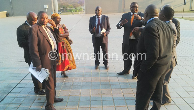 PP MPs who walked out in solidarity with Ngwira
