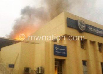 Up in smoke: The Lilongwe Branch of Standard Bank Malawi