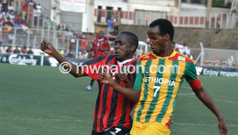 Harry Nyirenda (L) we let the team down