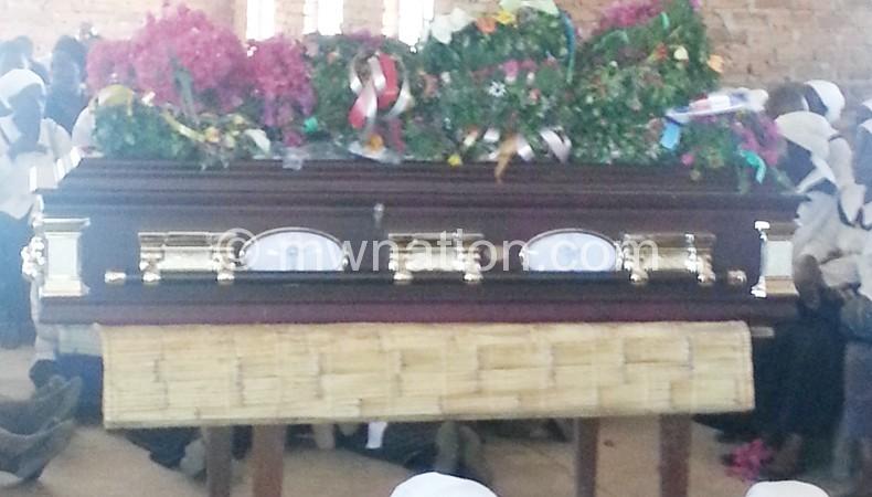 Nyathole's coffin