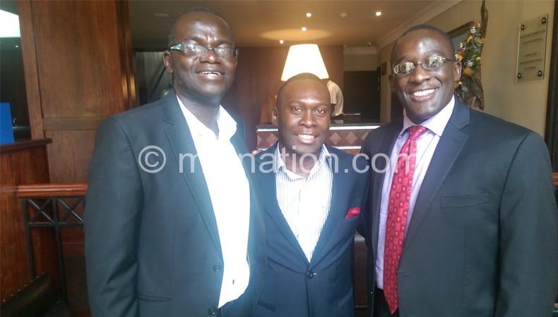 Chikoya (L), Somba Banda (C) and Nsejjere