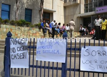 One of the scenes of the ACB strike