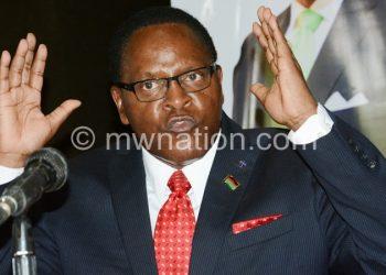 Chakwera: Mutharika not serious on corruption