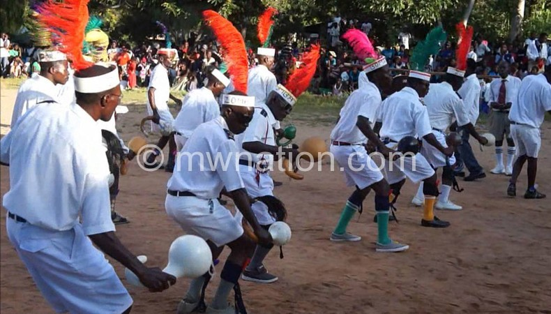 Zomba Boma, who came last, performing at the festival