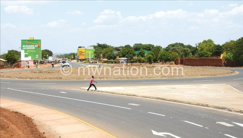 Lilongwe by-pass junction at Bunda turn-off