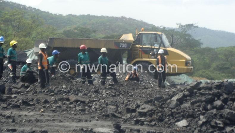 Mining activities in progress at Nkhachira Coal Mine
