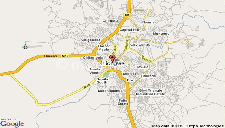 Map of Lilongwe