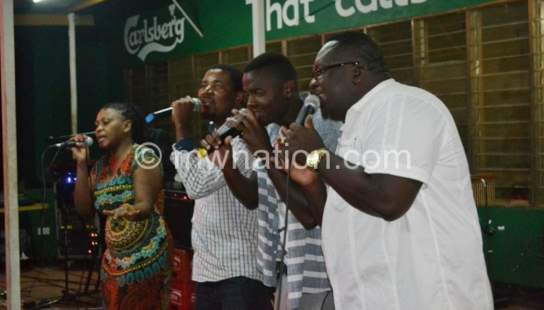 From L-R: Wendy, Skeffa, Lulu and Lucius performing Ndimitima ya Chikondi