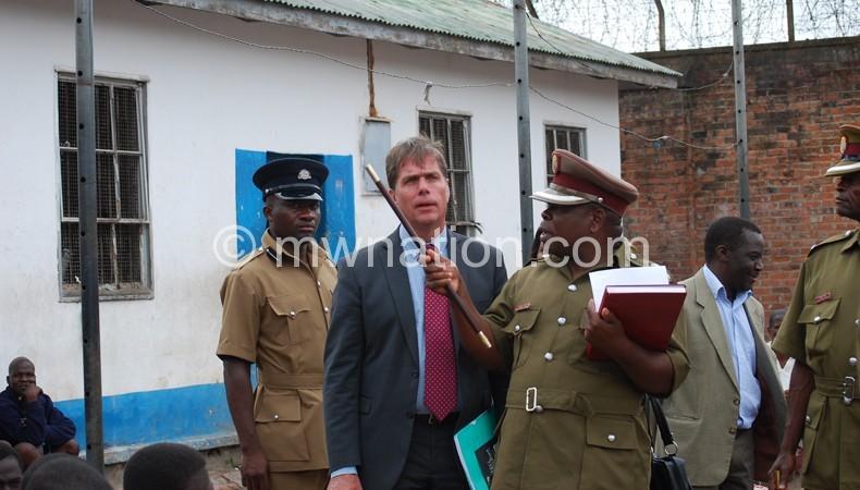 Nkhoma briefing Haugen on the situation at Mzuzu Prison