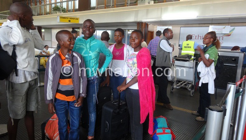 Students captured at KIA leaving for a similar trip in 2013