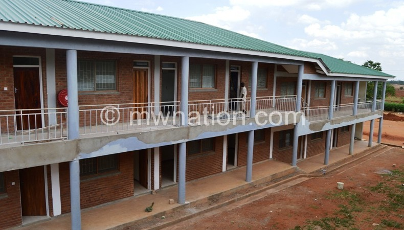 Some of the new hostels under construction at Luanar