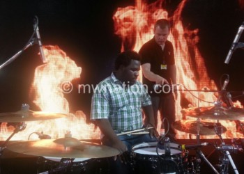 Amos is good on drums