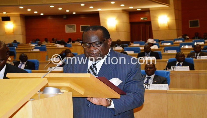 Gondwe delivers Mid-Year Budget Review Statement in Parliament