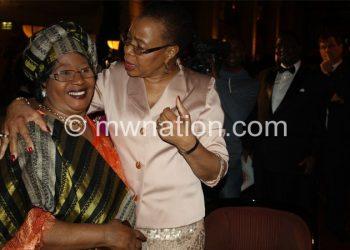 Former SA first Lady Grace Machel congratulates Banda