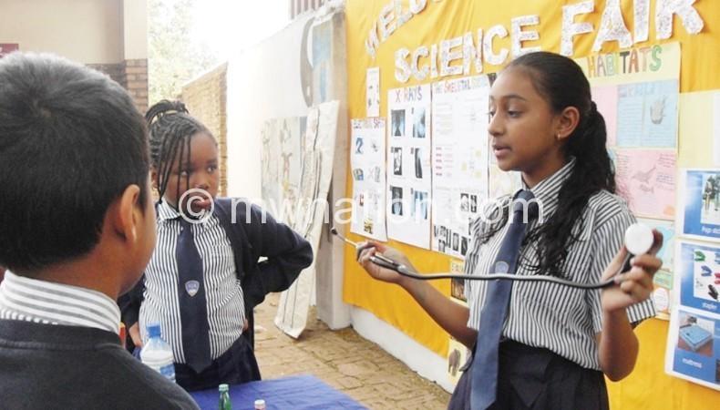 Nyasa students engage in science at the fair