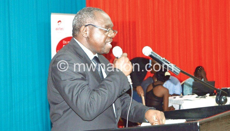 professor kaunda addressing the students during the night