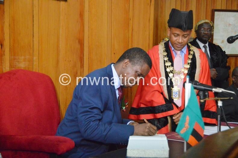 Sanctioned the prayers: Lungu