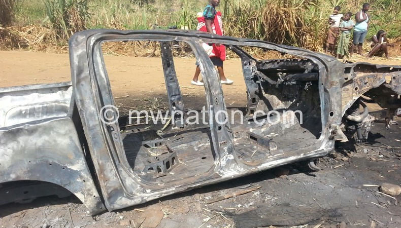 The alleged assassins torched Njauju's car