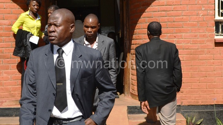 Kumwembe during an earlier court appearance