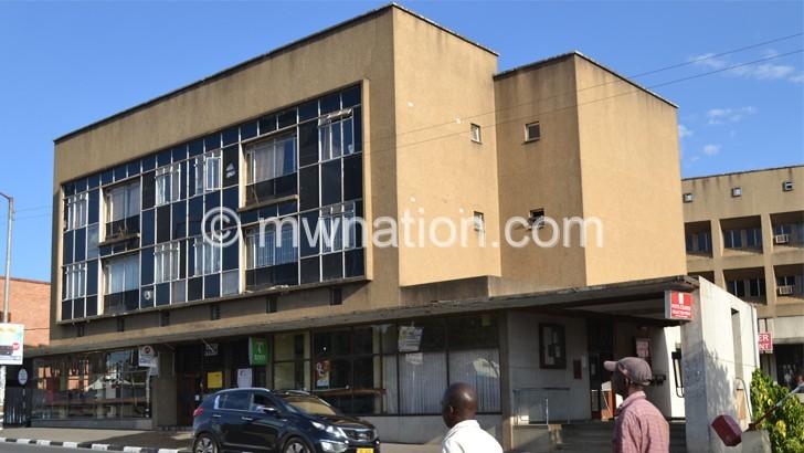 Malawi Post Corporation head office in Blantyre