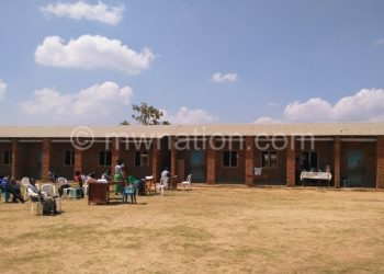 MEC staff at a deserted polling station in Chibanja