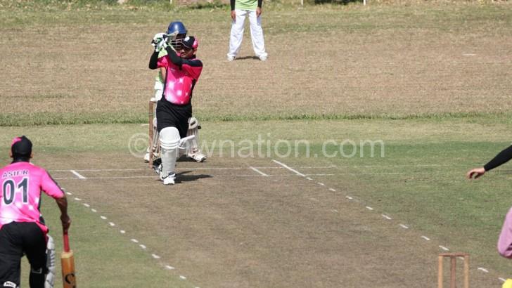 Cricketer Rustam (facing camera) made 69 runs on Sunday