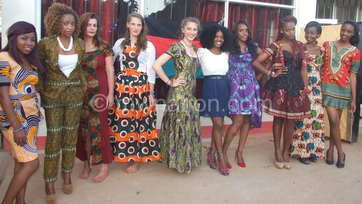 Models at the Mzuzu Fashion Show