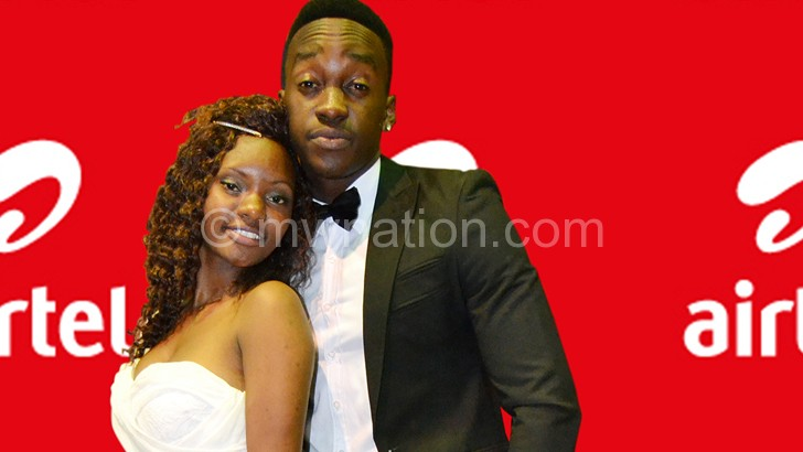 Mwendo and Chaula  strike a pose after their crowning