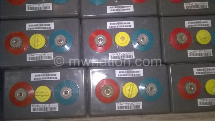 Airtel batteries that were recovered from thieves at Nguludi Turn-Off