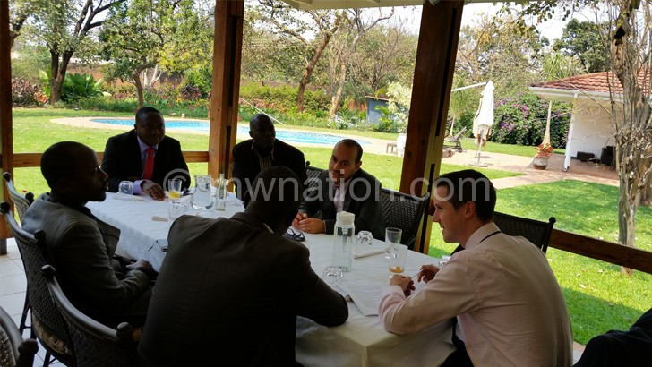 EU officials and journalists at the luncheon