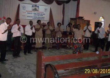 Tamandani and Kachere choir members at Saint Michaels and All Angels